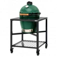 Керамический угольный гриль Big Green Egg LARGE в каркасном столе 120212, 117632