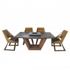 Комплект мебели Quan, на 6 персон, коричневый