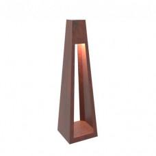 Фонарь с внутренним осветителем Quan Large на солнечной энергии, коричневый