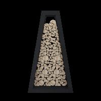 Стеллаж для хранения дров Quan Premium чёрный
