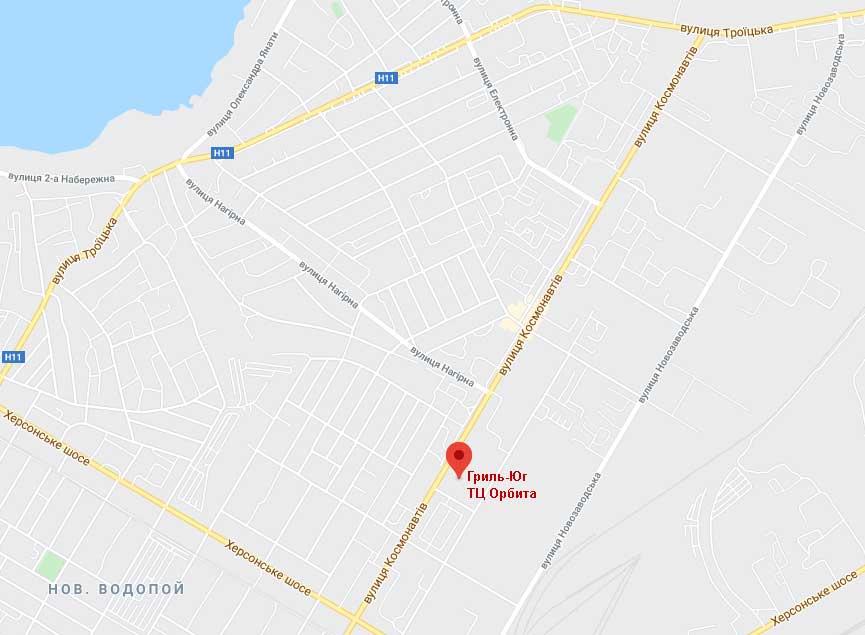 Гриль Юг на карте в Николаеве